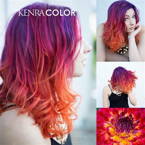 Kenra Color Purple Red Orange Yellow Ombre Hair Hair In