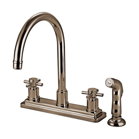 Elements Of Design Cross Handle Kitchen Faucet With