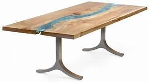 Table Verre Bois : table bois verre riviere 01 la boite verte ~ Teatrodelosmanantiales.com Idées de Décoration