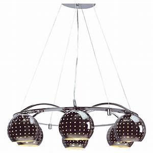Luminaire Suspension Design : luminaire suspension couleur chrome 6 lampes design kootenay ~ Teatrodelosmanantiales.com Idées de Décoration