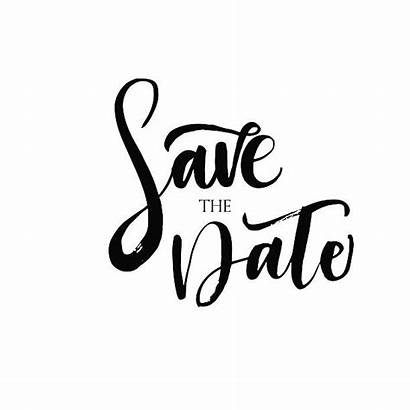 Date Save Text Vector Clip Clipart Phrase