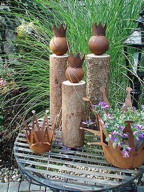 Gartendeko Holz Baumstamm by 25 Trendige Gartendeko Rost Ideen Auf