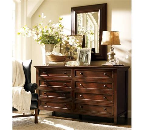 Decorating Ideas Dresser by Hudson Wide Dresser Mahogany Stain At Pottery Barn