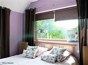 idees deco chambre lit devant fenetre chambre With aeration chambre sans fenetre
