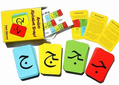 Arabic Alphabet Snap Cards Letters Writing Flashcards