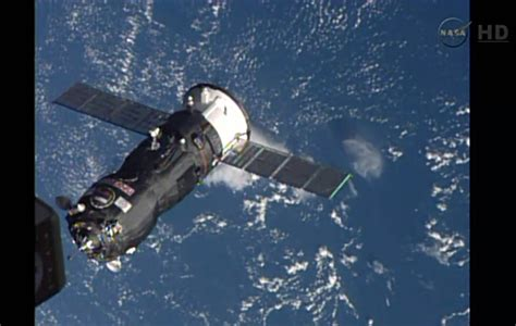russian cargo ship docks successfully  space station