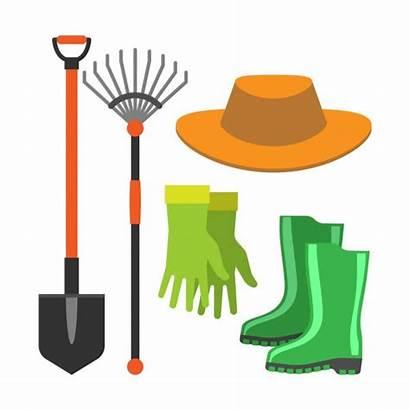 Tools Gardening Shovel Rake Garden Vector Icon