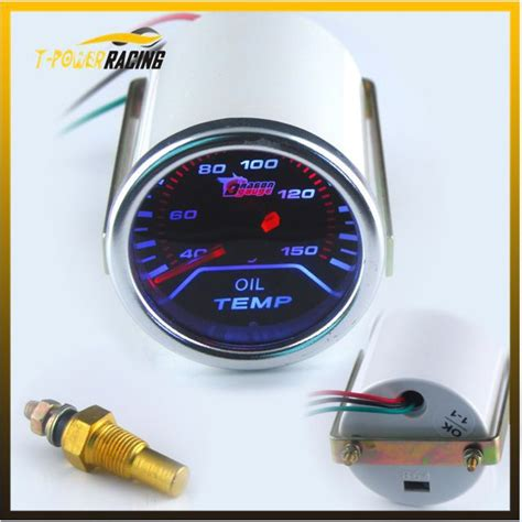 Led Auto Instrument Len by 2 Quot 52mm Smoke Len Pointer Temp C Degree Auto