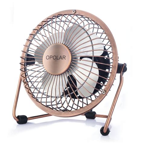 Opolar Mini Usb Table Desktop Personal Fan (metal Design