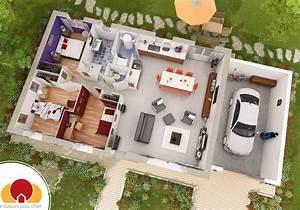 Plan Maison Pas Cher : maison de plain pied avec combles am nageables ~ Melissatoandfro.com Idées de Décoration