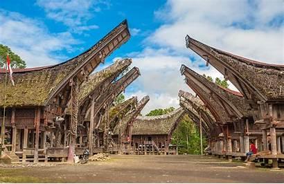Toraja Indonesia Tana Sulawesi Tongkonan Houses Buildings