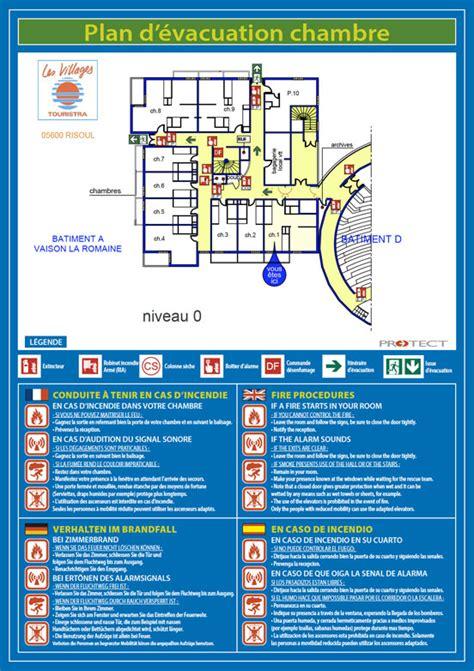 plan d une chambre d hotel plan d évacuation plan d intervention protect marseille