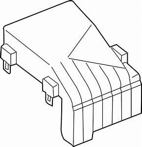 Volkswagen Rabbit Fuse Box Cover  Engine  Compartment