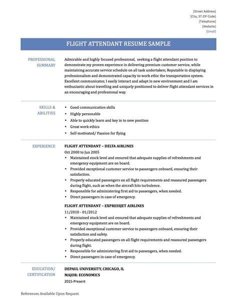 Resume For Flight Attendant by 31 Flight Attendant Resume No Experience Ts U38118