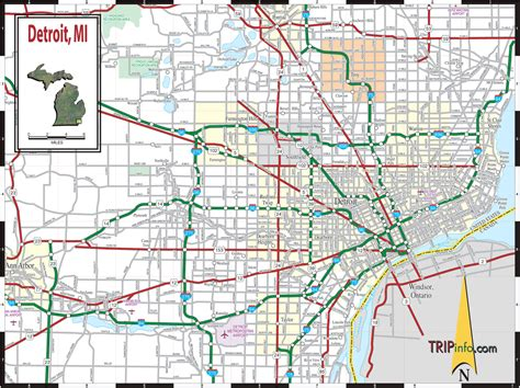 map  detroit michigan travelsmapscom