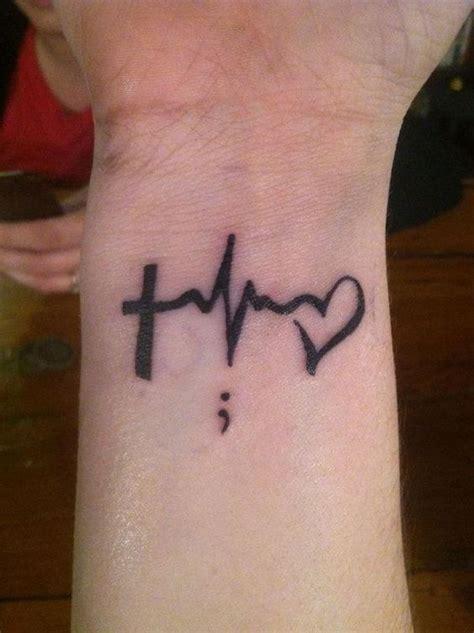 cute semicolon tattoo design ideas cross tattoos