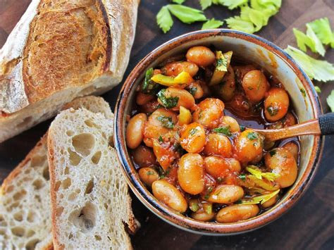 warm spanish style giant bean salad  smoked paprika