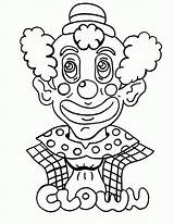 Coloring Clown Scary Printable Popular sketch template