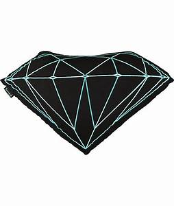 diamond supply co brilliant black teal pillow With diamond supply co pillow