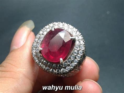 batu merah delima ruby asli kode 807 wahyu mulia