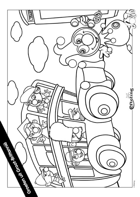 Kleurplaat Jokie En Jet Verjaardag by Kleurplaat Jokie In Groot Brittanni 235 Kleurplaten Nl