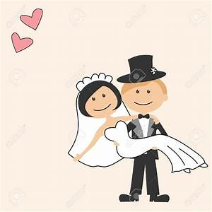 free cartoon bride and groom clipart - Clipground