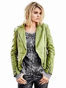 Veste Style Motard Femme : veste en cuir femme style motard col tailleur l gant ~ Melissatoandfro.com Idées de Décoration