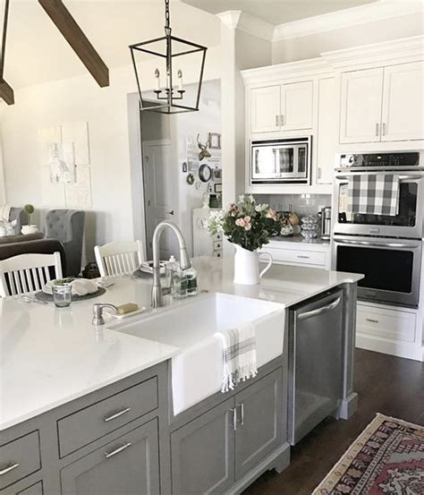 gauntlet gray   kitchen island   vintage nest
