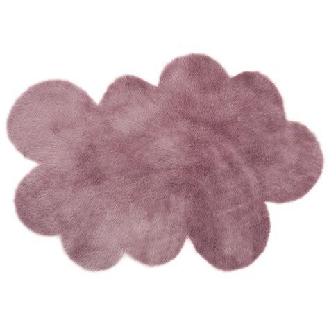 tapis nuage mauve gris 233 pilepoil pour chambre enfant
