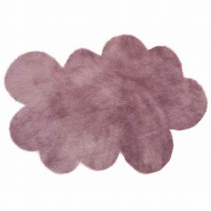 tapis nuage mauve grise pilepoil pour chambre enfant With tapis chambre bébé avec livraison de fleurs tours