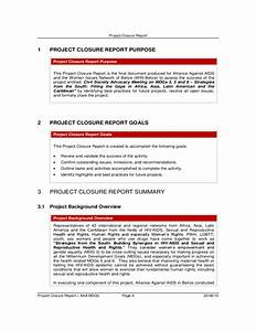 project closure report free download With end of project report template