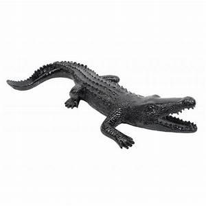 Statue De Jardin En Résine : statue sculpture d corative design crocodile en r sine noir ~ Dailycaller-alerts.com Idées de Décoration