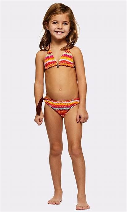 Bikini Swimsuit Kiara Orange Swimwear Maillot Child