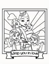 Wrap Coloring Kleurplaat Draagdoek Wrapyouinlove sketch template