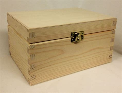 Wooden Storage Box With Lid