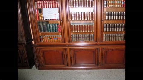 Antique Bookshelves With Glass Doors Youtube