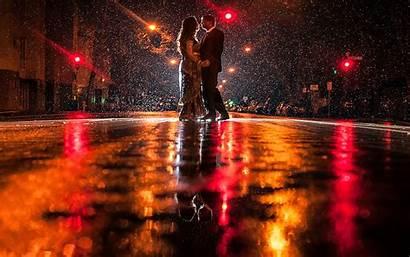 Rainy Night Couple Rain Romance Wallpapers Romantic