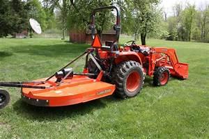 2013 Kubota L3800 Tractor Front End Loader Brush Hog New