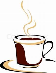 Dampfende Tasse aromatischen Kaffee | Stock-Vektor | Colourbox