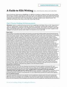 best photos of knowledge skills abilities and writing With federal resume guide