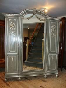 French Louis Xvi Style Triple Door Armoire 242270
