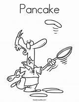 Pancake Coloring Kitchen Center Pancakes Worksheet Outline Cursive Twistynoodle Built California Usa Noodle Login Favorites sketch template