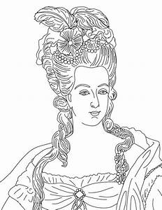 French Queen Reine Marie Antoinette Coloring Page
