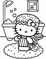 Coloring Kitty Hello Bath Pages Colouring Printable Elephant Children Print Birthday Party Printables Books Adult Adults Popular Nerd Uploaded User sketch template