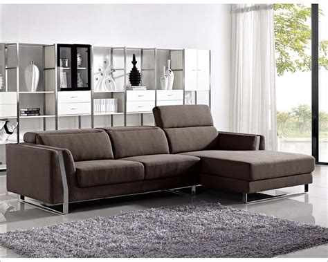 Style Sofa Sets by Fabric Sectional Sofa Set In Modern Style 44l6057