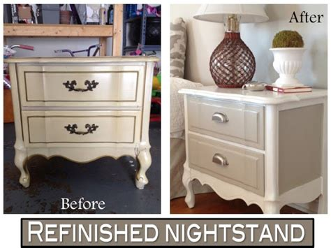 Refinish Nightstand by Two It Yourself Refinished Nightstand In Diy Chalk Paint