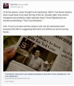 Ted Cruz takes bite out of HBO's 'True Blood' - Houston ...