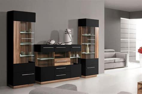 vaisselier deux portes black meubles de salon design pas