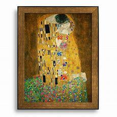 The Kiss By Gustav Klimt  Framed Art Printfamous