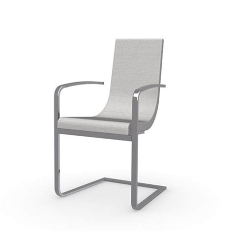 Cruiser Monoblock Chair Metal Base And Armrests   Modern